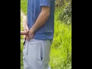 Playing With Cock in a Public Park video