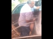 Grandpa Fucks Outdoor in Public video