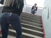 cute girl wetting her jeans in public porn