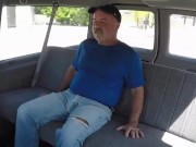 Tow Grandpa fuck in car porn