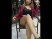 MILF showing pussy in public  video