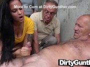 Mother and Stepdaughter Take Care of Old Gunther porn