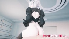 Cool Compilation of NieR Automata 2B with Huge Perfect Booty Fuck video