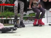 Dance on model cars – crush with Buffalo boots video