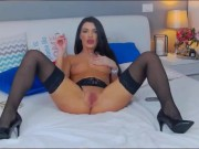 CarlaVoss Romanian gypsy whore is smoking her retarded pussy on cam porn